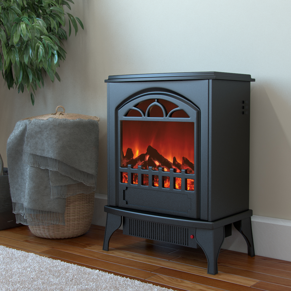 Phoenix Electric Fireplace Free Standing Portable Space