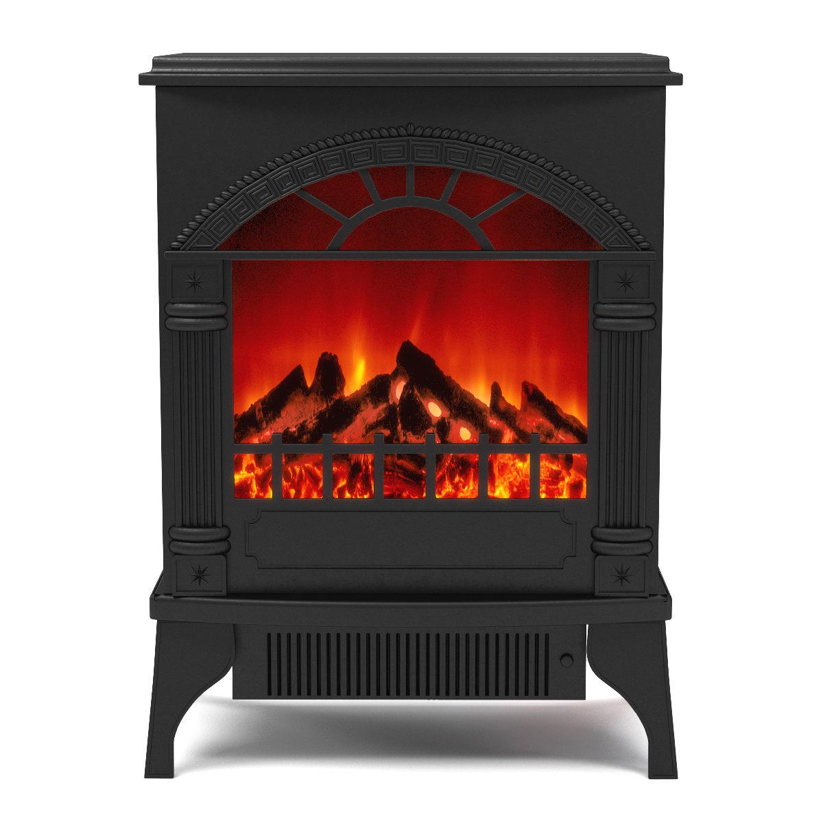 Apollo electric fireplace free standing portable space Free standing fireplace