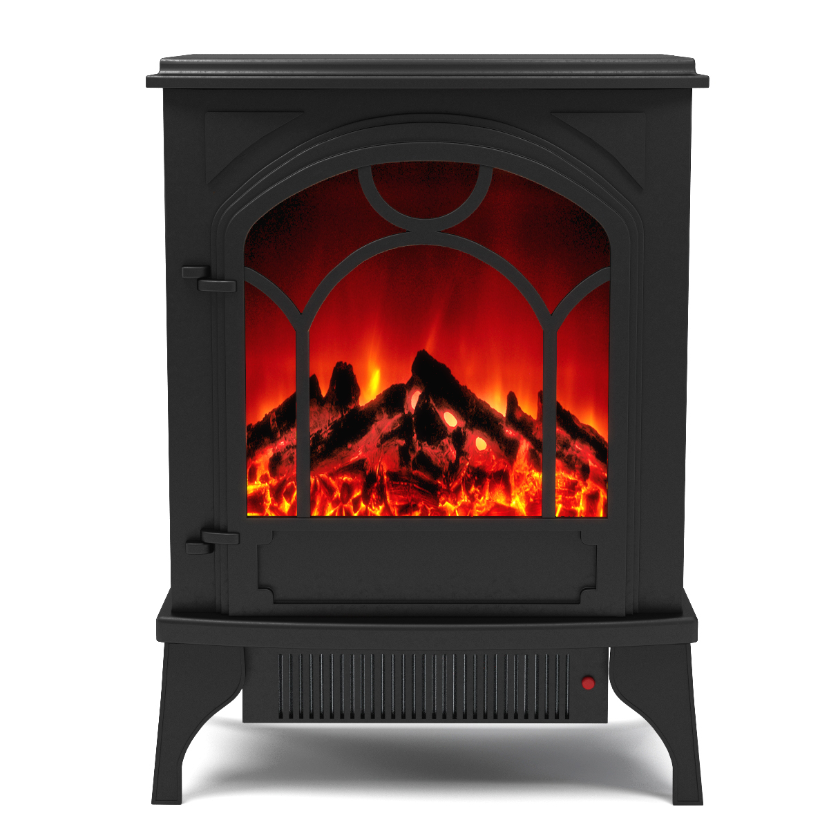 Aries electric fireplace free standing portable space Free standing fireplace