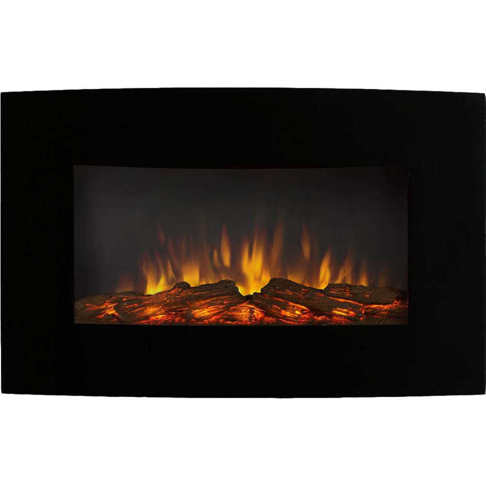Black wall mounted electric fireplace - Black Wall Mounted Electric Fireplace 15
