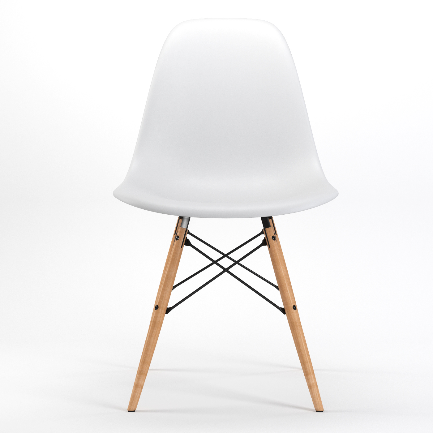 Armin Wood Leg Dining Side Chair in White