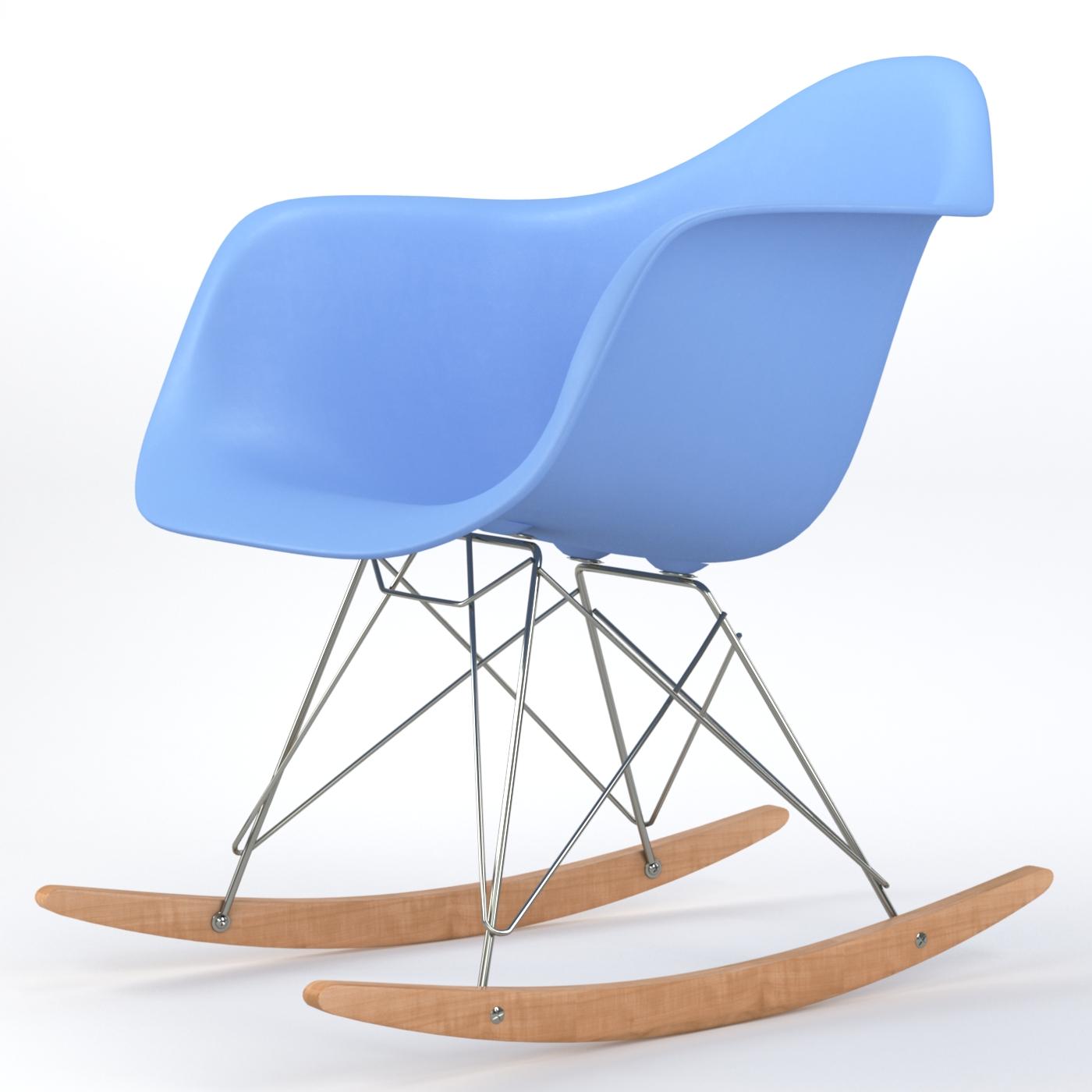 Brevim hybrid occasional rocking armchair in light blue for Light blue armchair