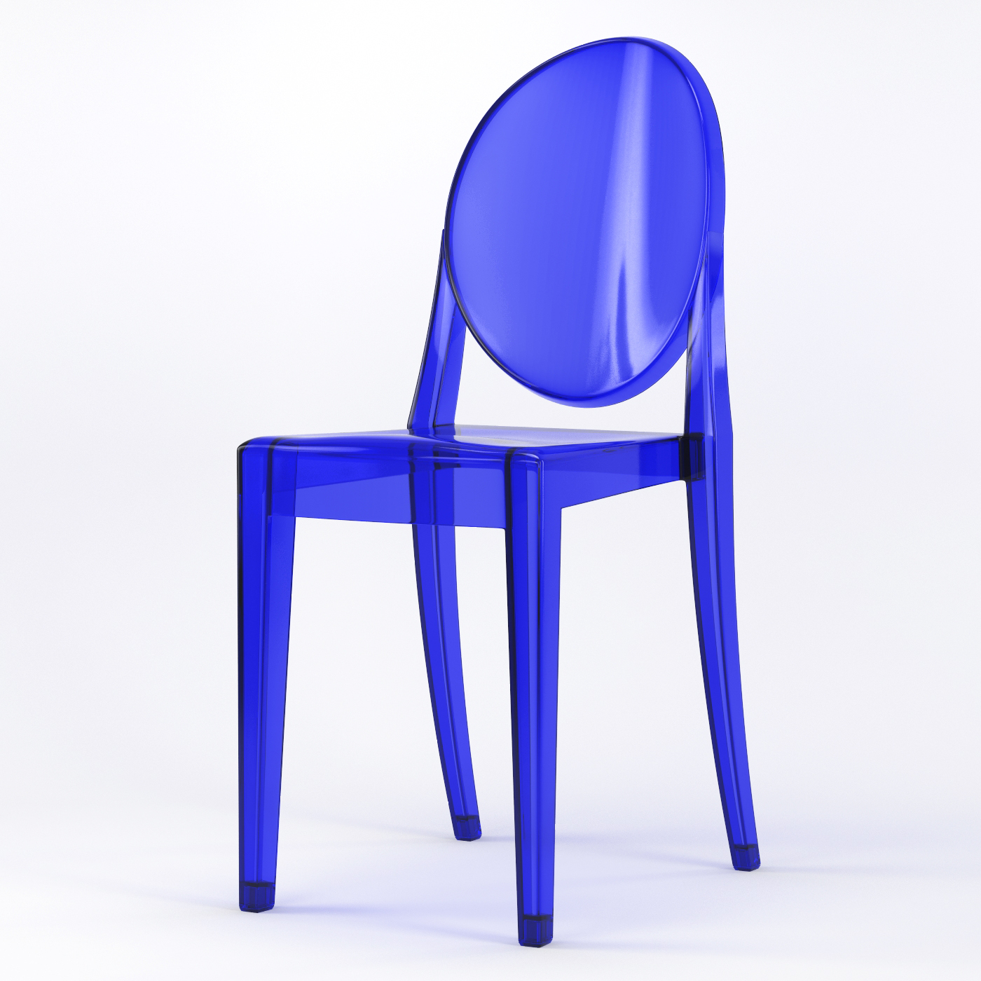 Phantom Occasional Acrylic Stackable Side Chair in Blue