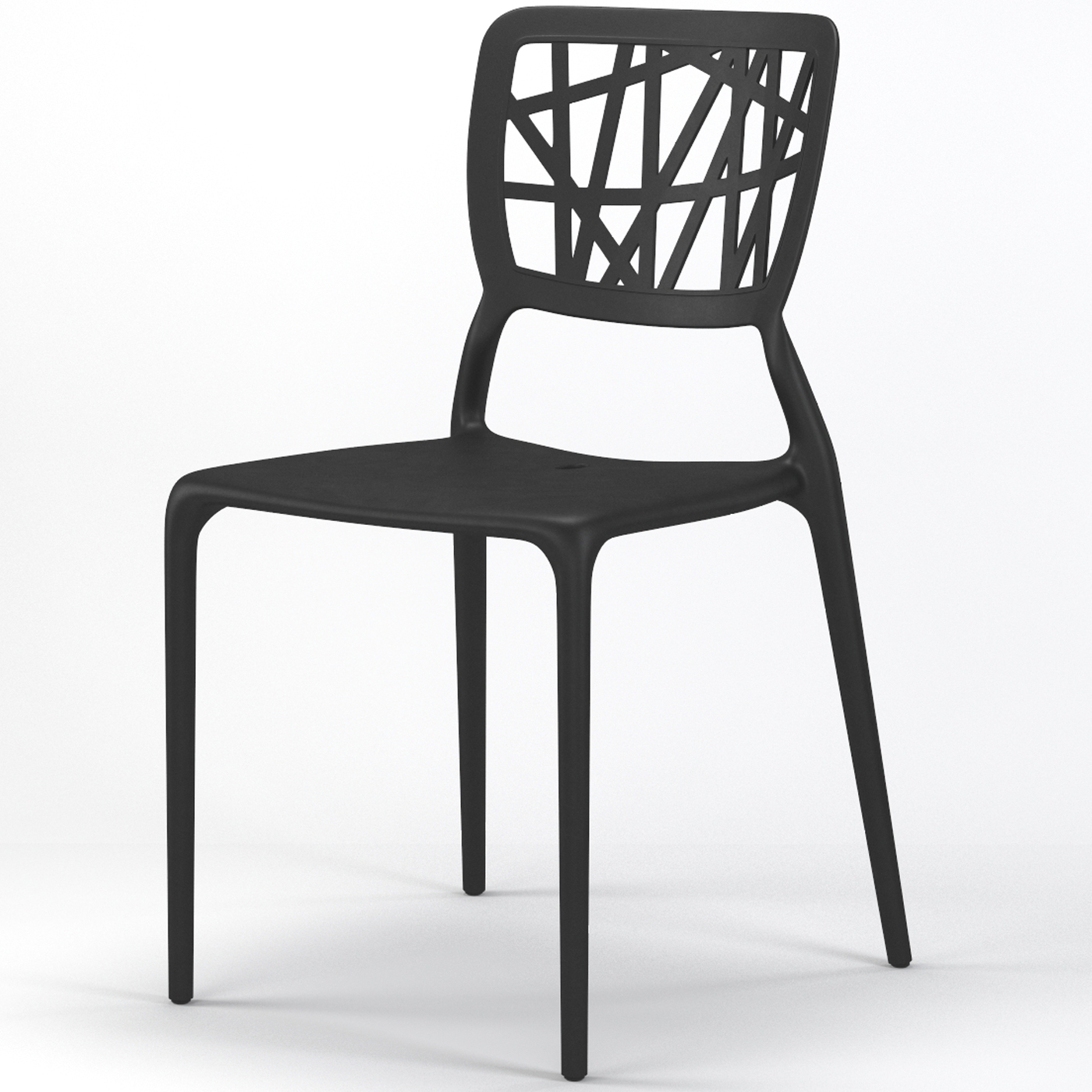 Verdant stackable dining side chair in black for Stackable dining room chairs