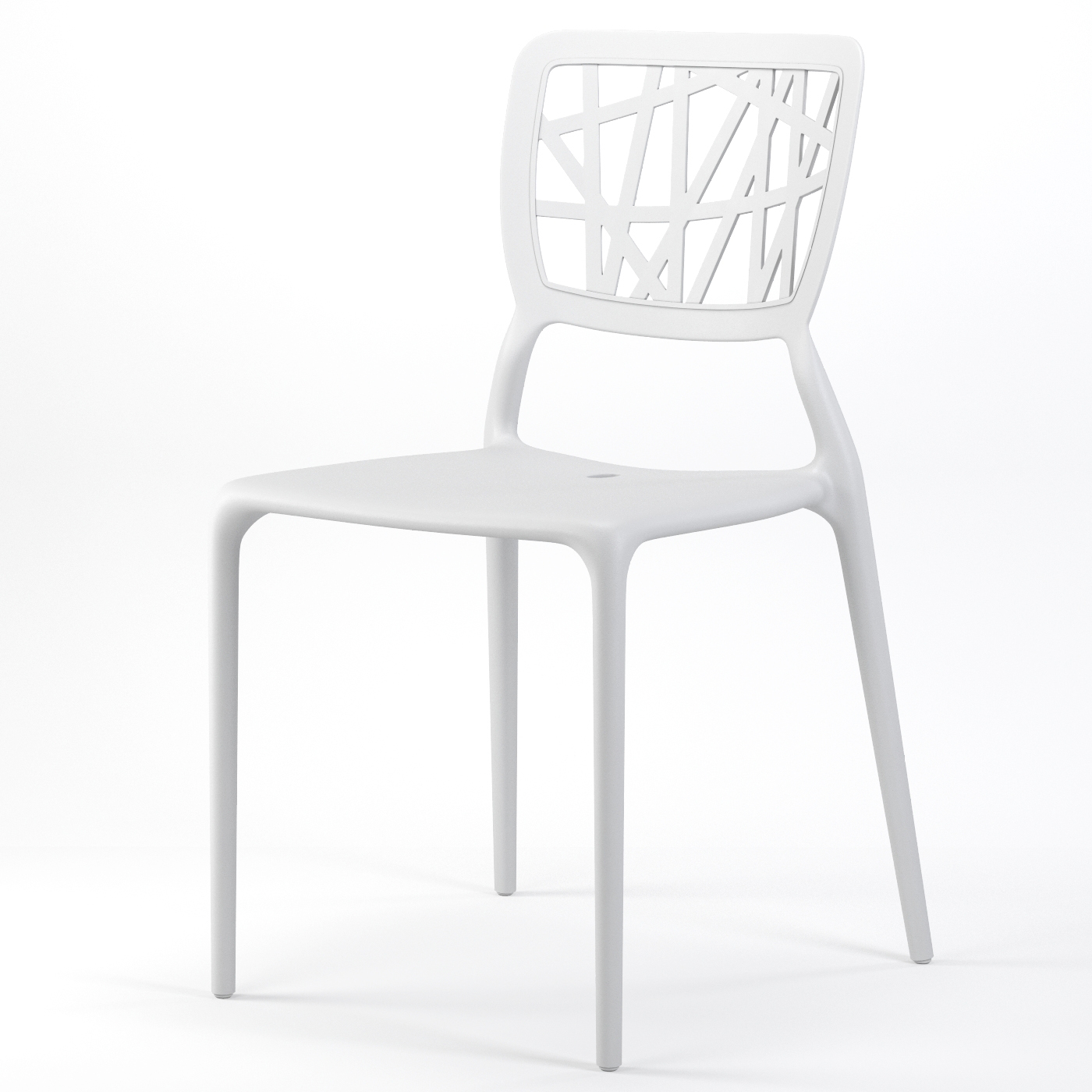 Verdant Stackable Dining Side Chair In White