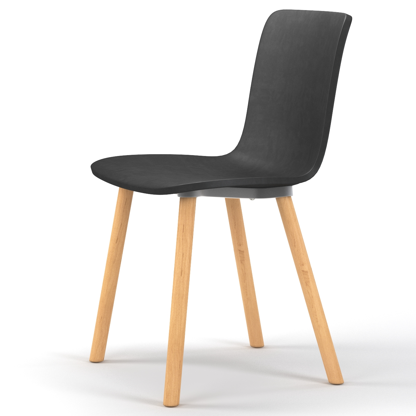 Studio plastic modern dining chair in black for Modern black dining chairs