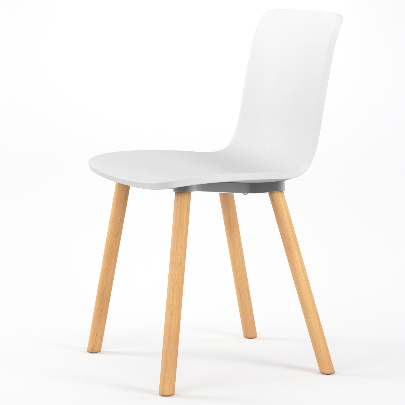 Studio plastic modern dining chair in white for Modern white dining room chairs