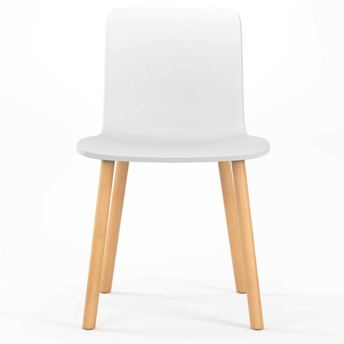 studio plastic modern dining chair in white -