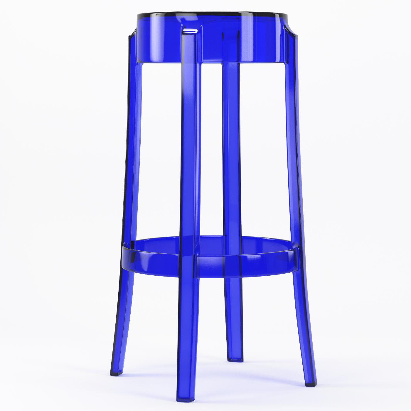 Swell Phantom 29 Inch Backless Bar Stool In Blue Gmtry Best Dining Table And Chair Ideas Images Gmtryco