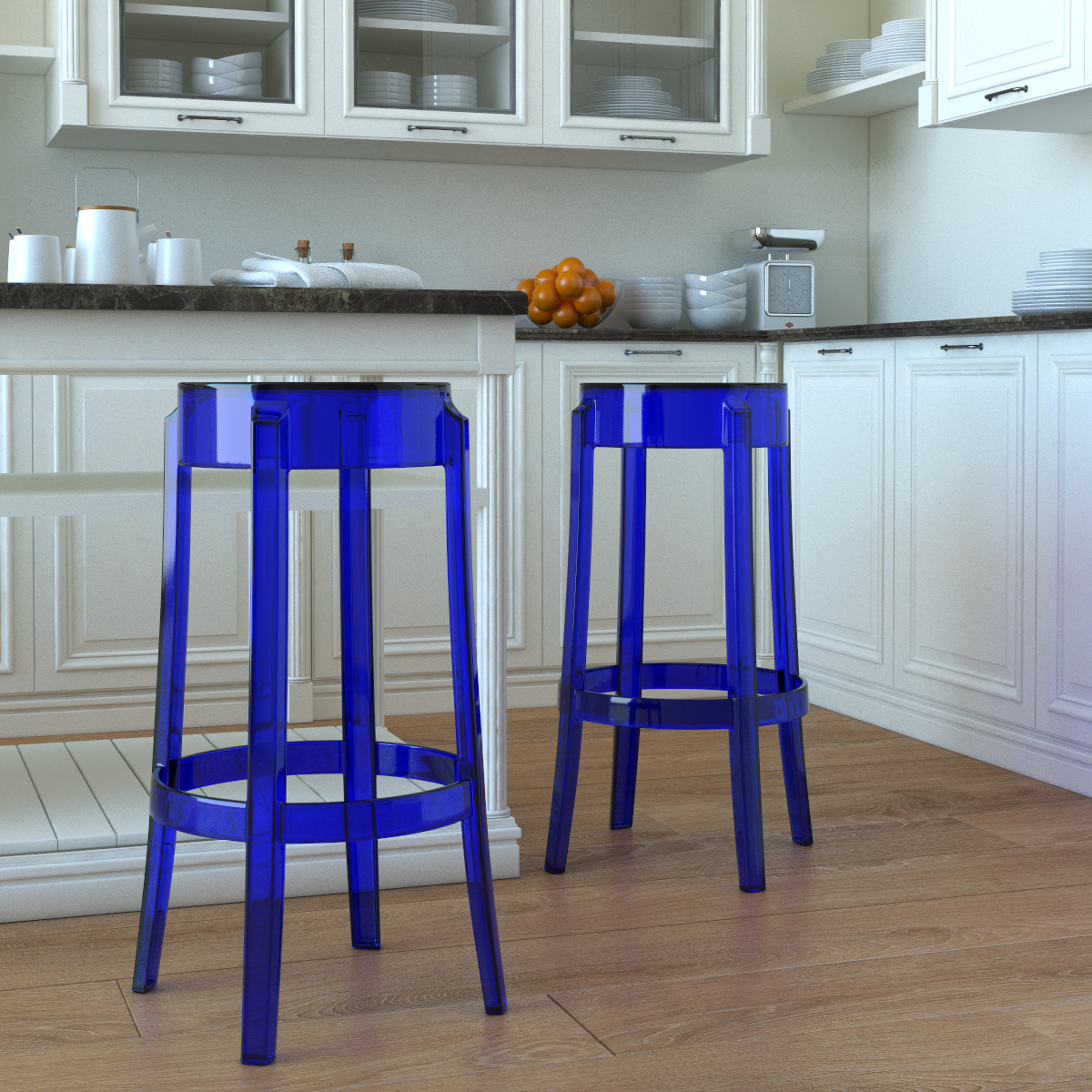 Prime Phantom 29 Inch Backless Bar Stool In Blue Gmtry Best Dining Table And Chair Ideas Images Gmtryco