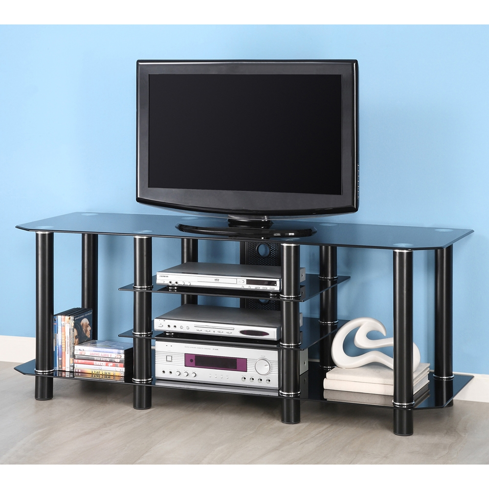 60 Inch Glass Tv Stand In Black