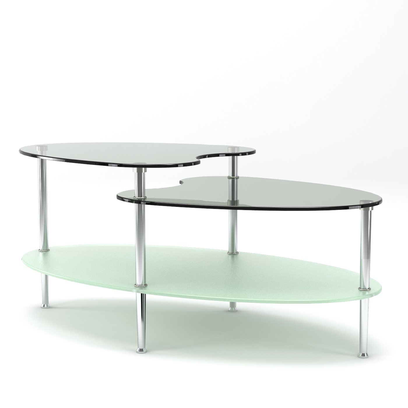 Oval Coffee Table With Shelf.Becca 38 Inch Oval Two Tier Glass Coffee Table