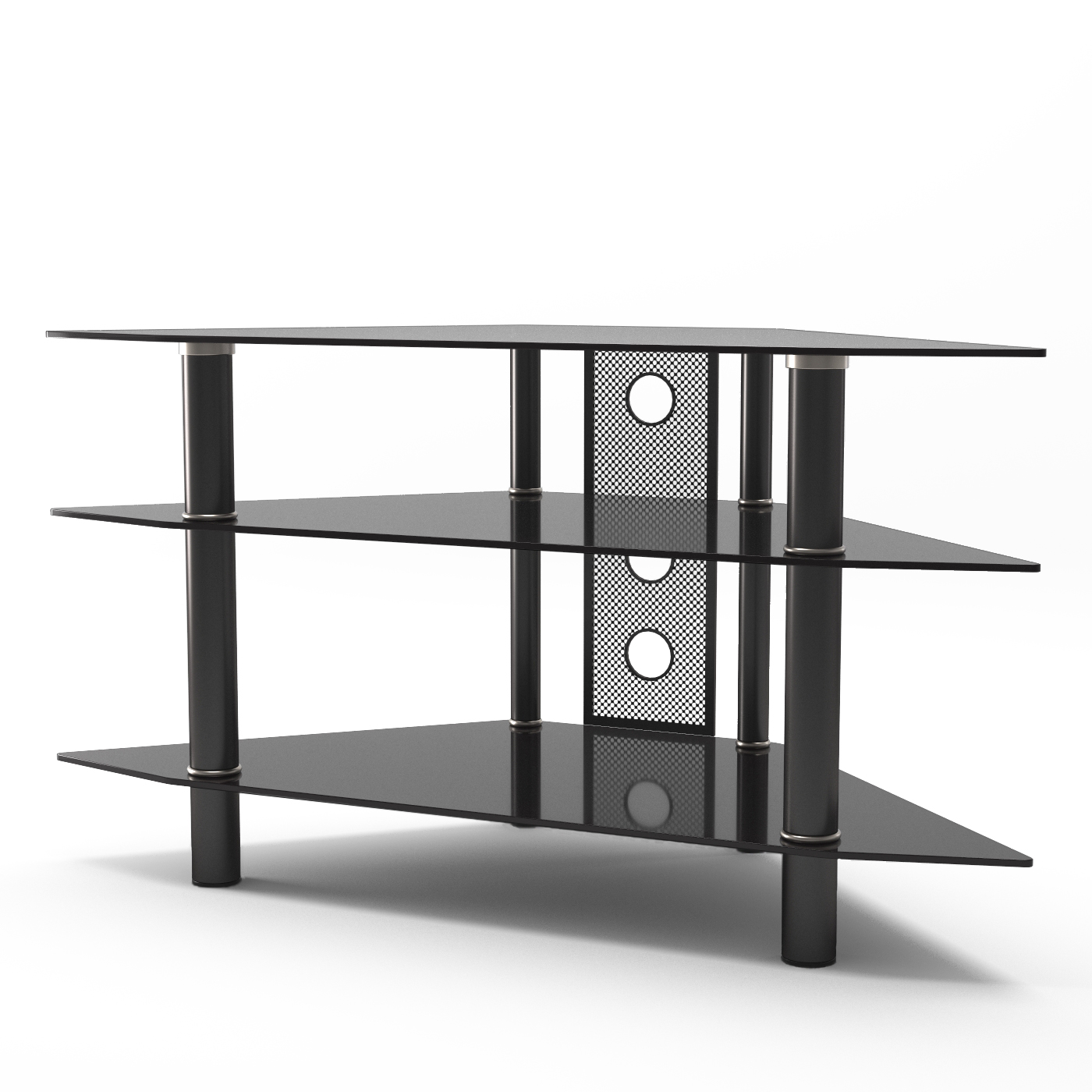 new concept eaa66 d785d Ruby 44 Inch Corner Glass TV Stand in Black