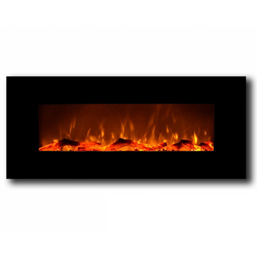 Liberty 50 Inch Electric Wall Mounted Fireplace Black