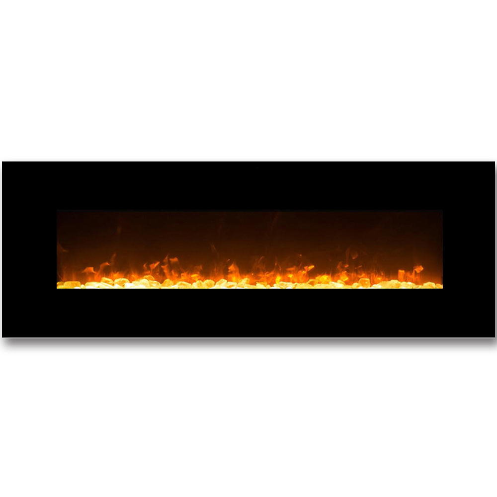 empire 72 inch crystal linear wall mounted electric fireplace