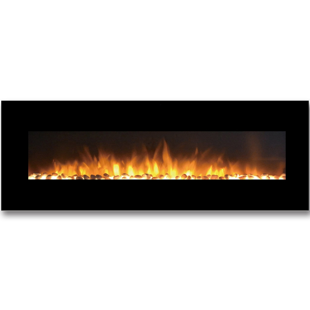 savannah 72 inch pebble linear wall mounted electric fireplace