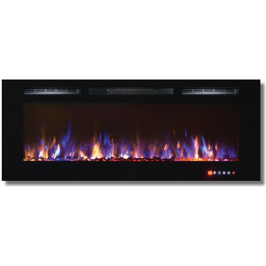 Bombay 50 Inch Crystal Recessed Touch Screen Multi Color