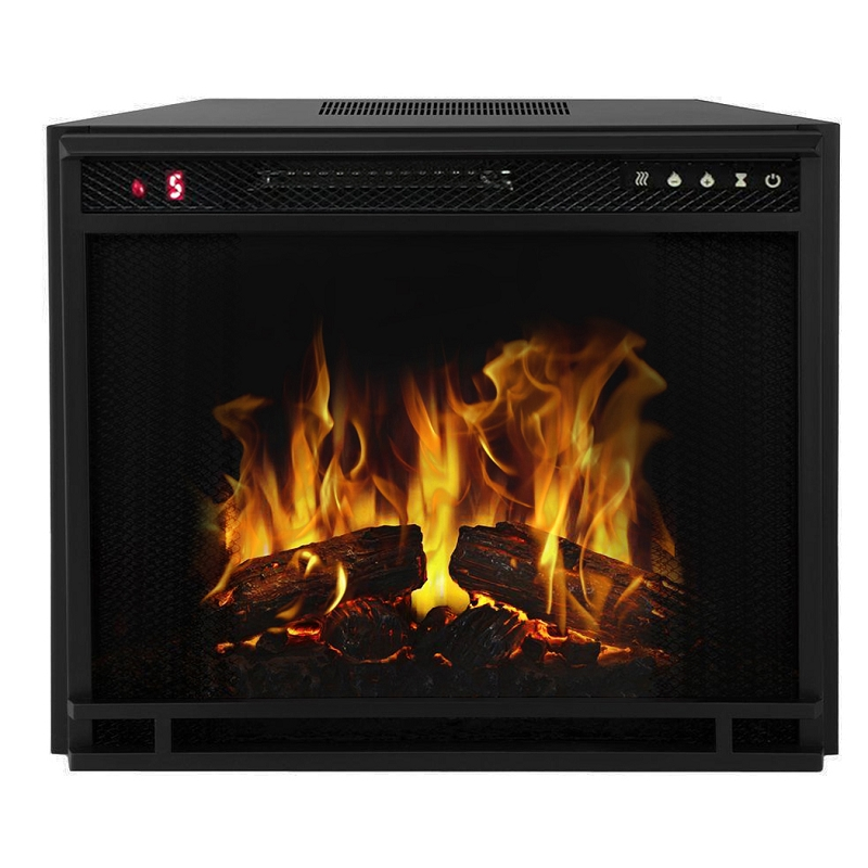 33 Inch Led Ventless Electric Space Heater Built In Recessed Firebox Fireplace Insert