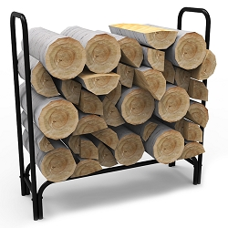 4 Foot Black Shelter Firewood Log Rack
