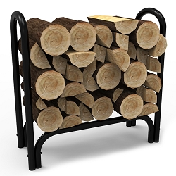 28 Inch Indoor Outdoor Firewood Shelter Log Rack