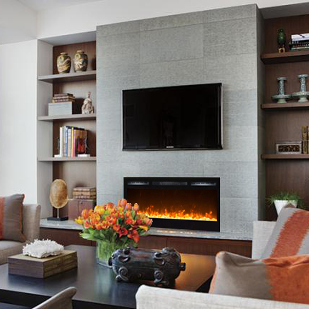 modern home redesign mounted types tips fireplace the wall and electric