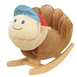 Homer the Baseball Glove Kids' Rocker with Music