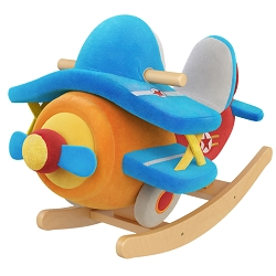 Theodore Airplane Kids' Rocker with Music