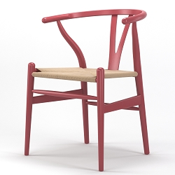 Timber Accent Dining Chair in Pink