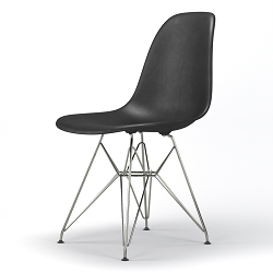Armin Wire Base Dining Side Chair in Black