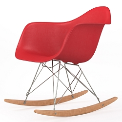 Brevim Hybrid Occasional Rocking Armchair in Red