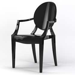 Phantom Occasional Dining Armchair in Black
