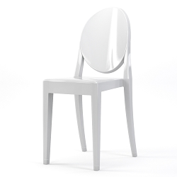 Phantom Occasional Acrylic Stackable Side Chair in White