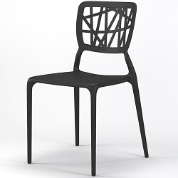 Verdant Stackable Dining Side Chair in Black