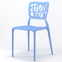 Verdant Stackable Dining Side Chair in Blue