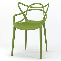 Lace Occasional Accent Dining Armchair in Green