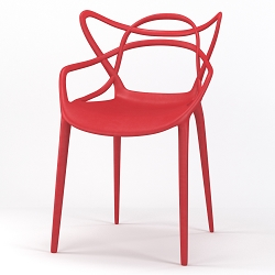 Lace Occasional Accent Dining Armchair in Red