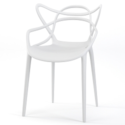 Lace Occasional Accent Dining Armchair in White