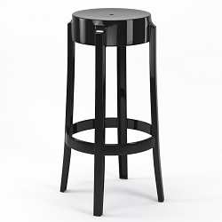 Phantom 29 Inch Backless Bar Stool in Black