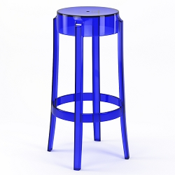 Phantom 29 Inch Backless Bar Stool in Blue
