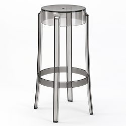 Phantom 29 Inch Backless Bar Stool in Smoke