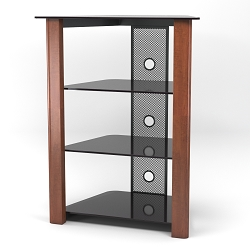 Ashton Multi-Level Component Stand in Wood Cherry