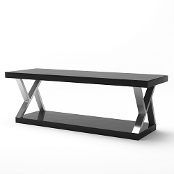 Hayden Double V Design 60 Inch Modern TV Stand