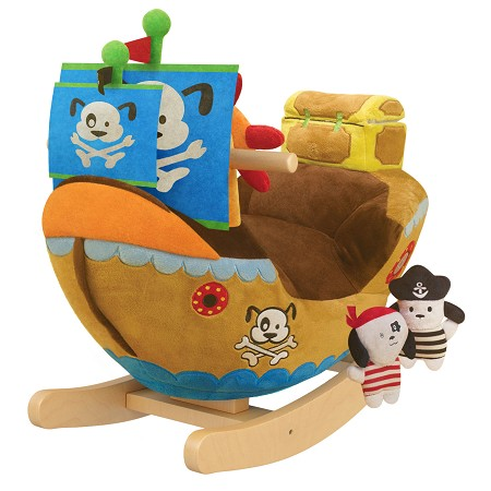 Arr Puppy Pirate Ship Kids' Rocker with Music