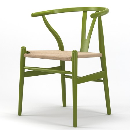 Timber Accent Dining Chair in Green