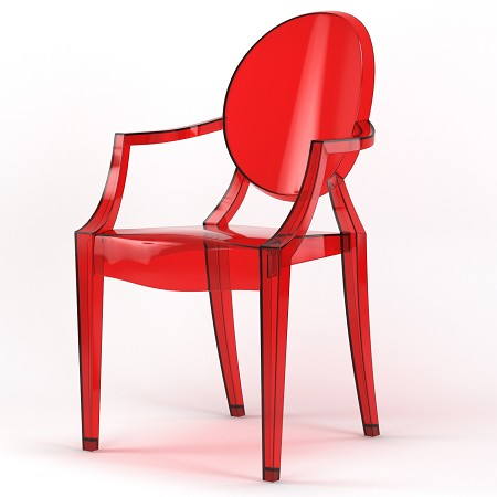 Phantom Occasional Dining Armchair in Red