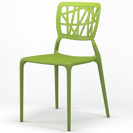 Verdant Stackable Dining Side Chair in Green