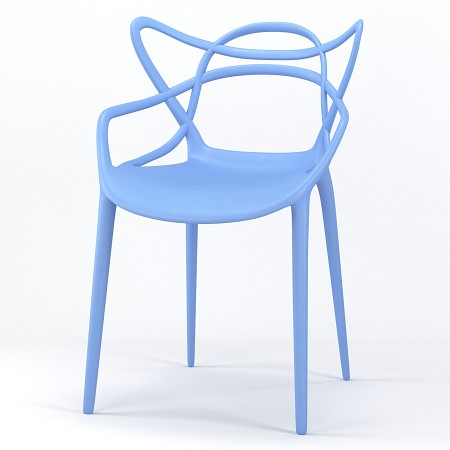 Lace Occasional Accent Dining Armchair in Light Blue