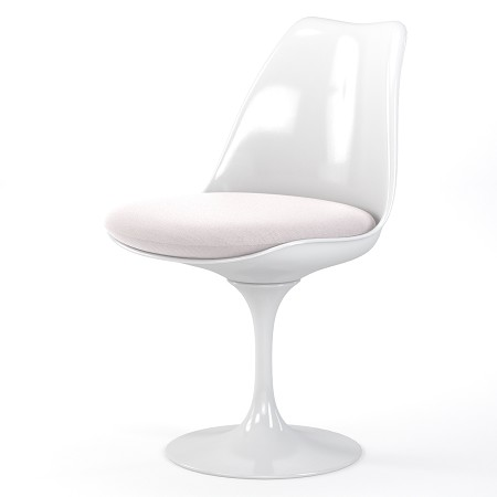 Lily Occasional Accent Dining Chair with White Cushion