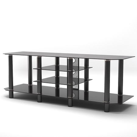Salerno 60 Inch Glass TV Stand in Black